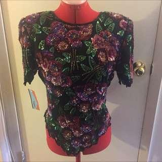 Vintage Sequins Shirt