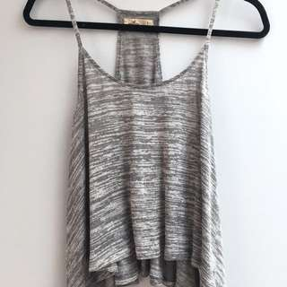 Grey Flowy Tank Top