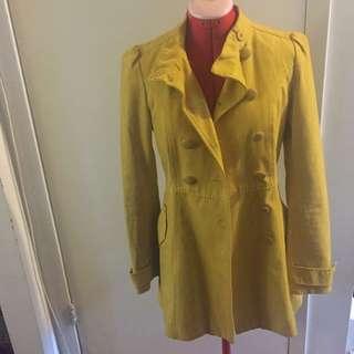 H&M Yellow Peacoat
