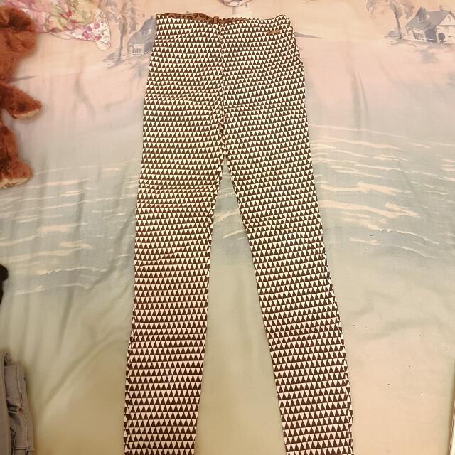幾何黑白鉛筆褲