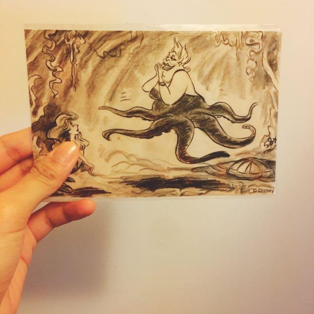 小美人魚烏蘇拉明信片❤️長髮公主樂佩明信片