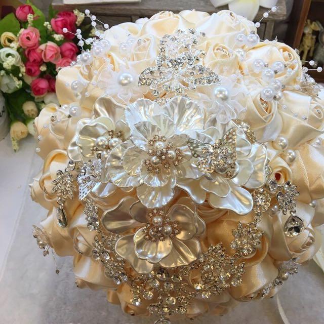 (降價中~)婚禮 珠寶捧花