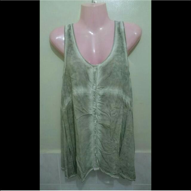 Acid Wash Sleeveless Top