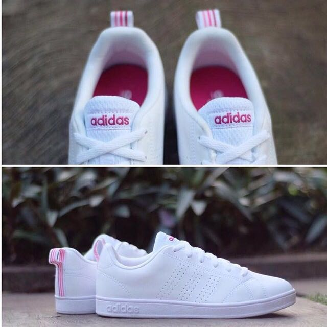 Adidas Neo Advantage White Pink, Women's Fashion, Shoes on ...