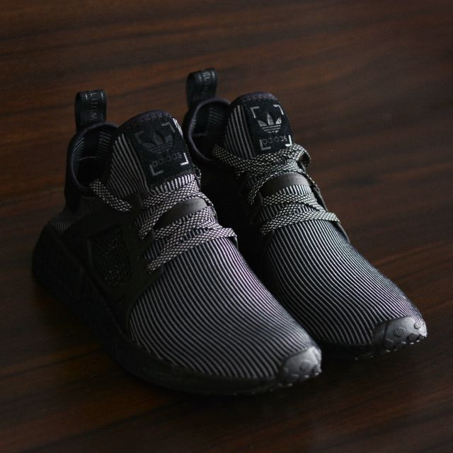 "uk availability 788c4 a8300 Adidas NMD XR1 Primeknit ""Triple Black"