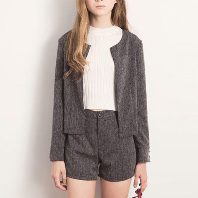 Air Space套裝 西裝外套+高腰短褲
