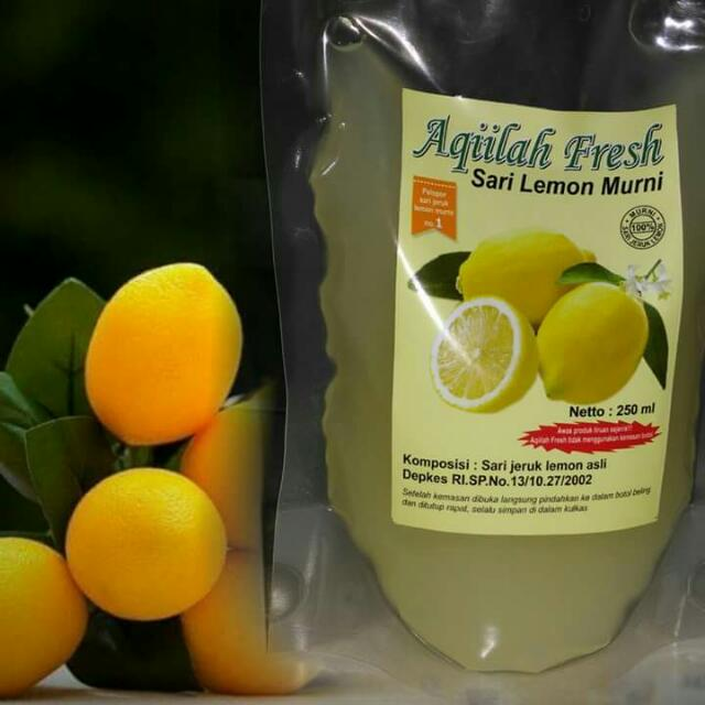 Aqiilah Fresh Sari Lemon 100% Alami