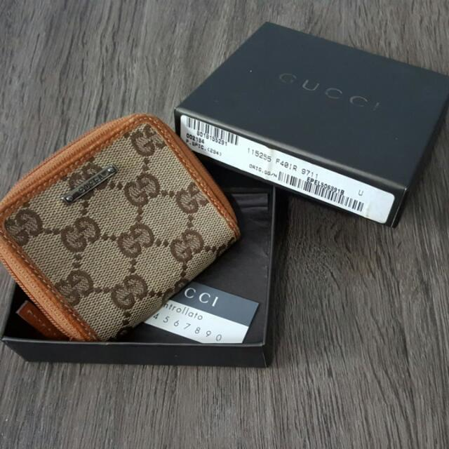outlet store f873d 5db8a Authentic Gucci Coin Purse