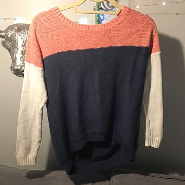 Colorblock Knit Sweater - Olive & Oak