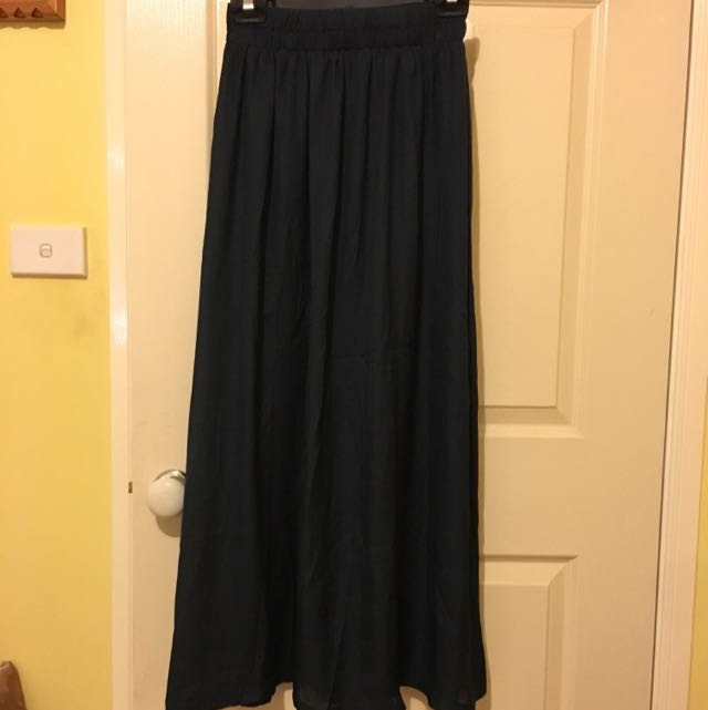 Cotton On Dark Blue Maxi Skirt (Chiffon)