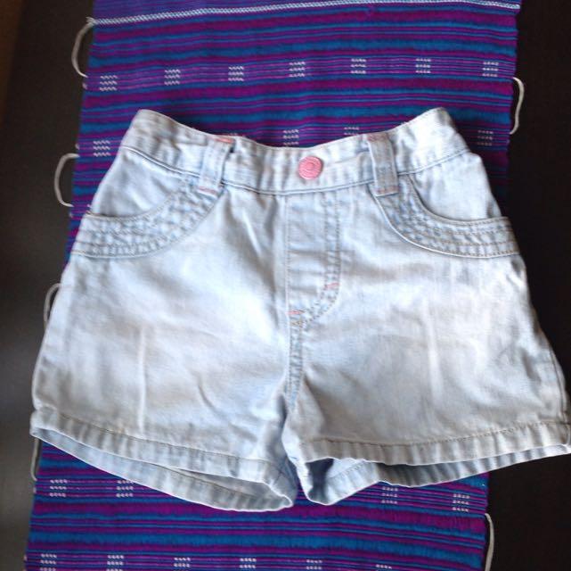 Denim Girls Shorts