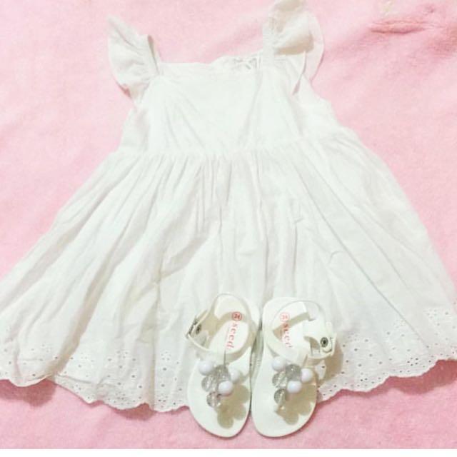 Dress Size 12-18 m, Sendal Old Navy Size 24 (insole 13cm)