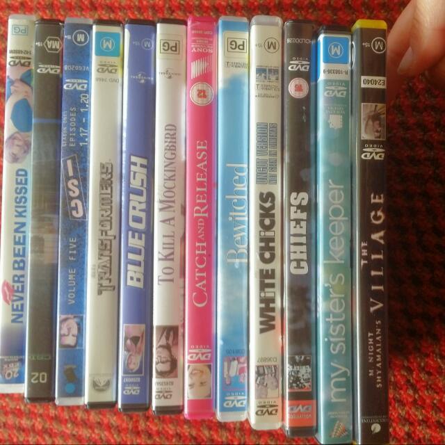 DVDS. $5 EACH