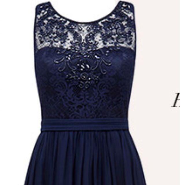 Forever New Navy 'Ellie' Formal dress