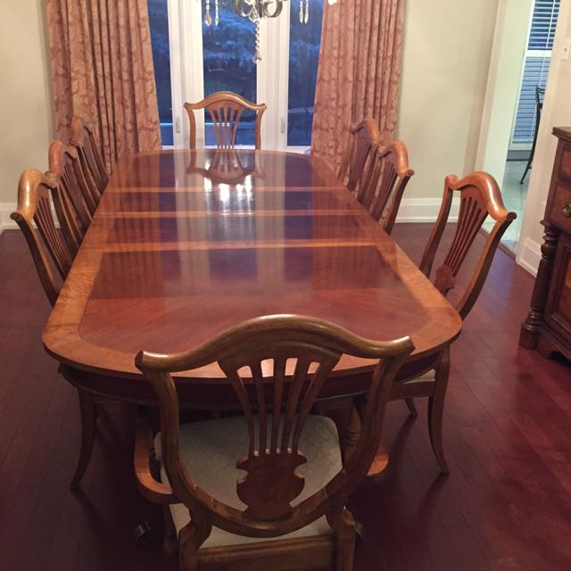 Formal Dining Table With 8 Chairs Includes Buffet