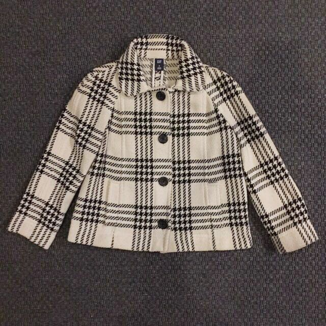GAP Black & White Plaid Jacket