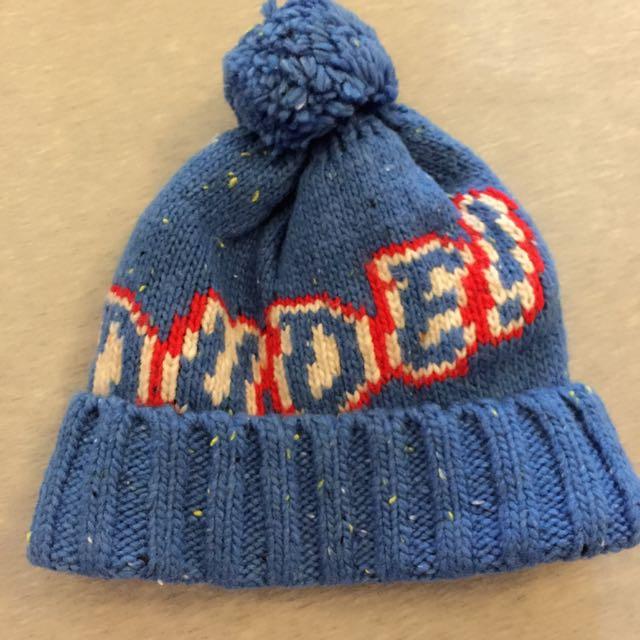Gap dude藍色毛球毛帽 M/L號