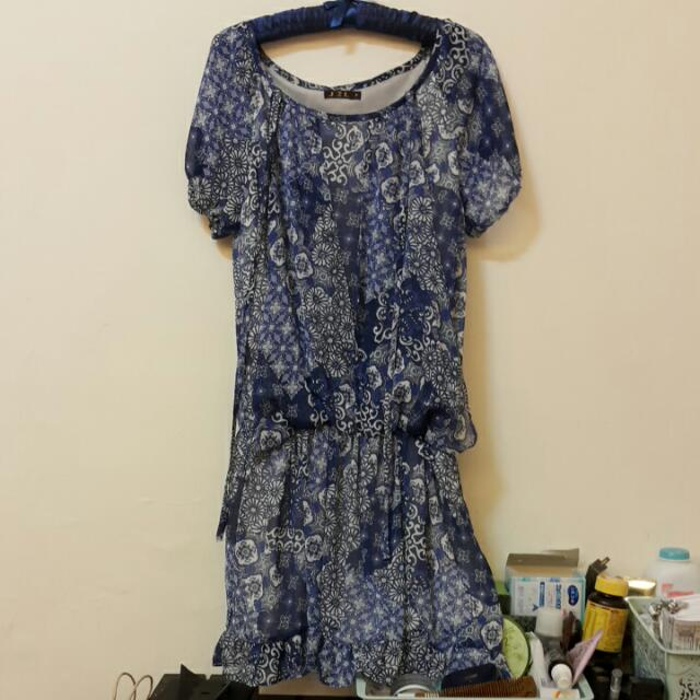J&F日式圖騰洋裝