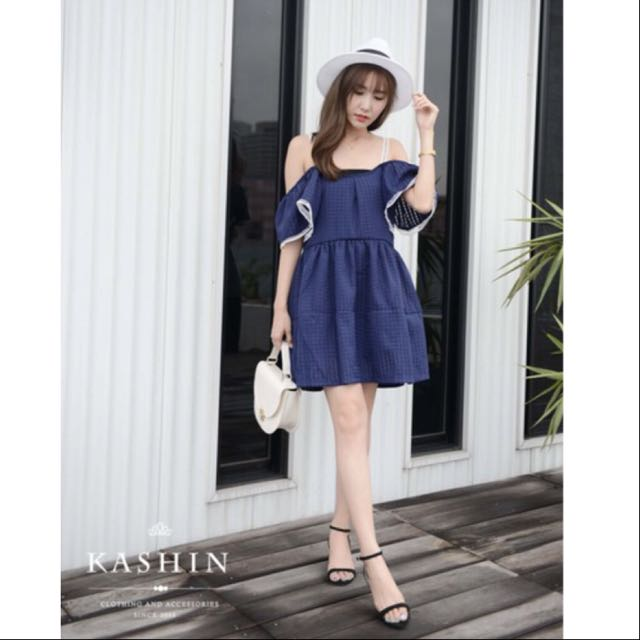 Kashin 正韓 高質感 一字 洋裝