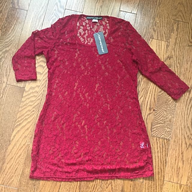 Lace Tunic - Red