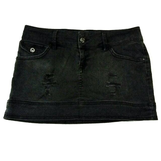 Mango Skirt Black Mini Jeans