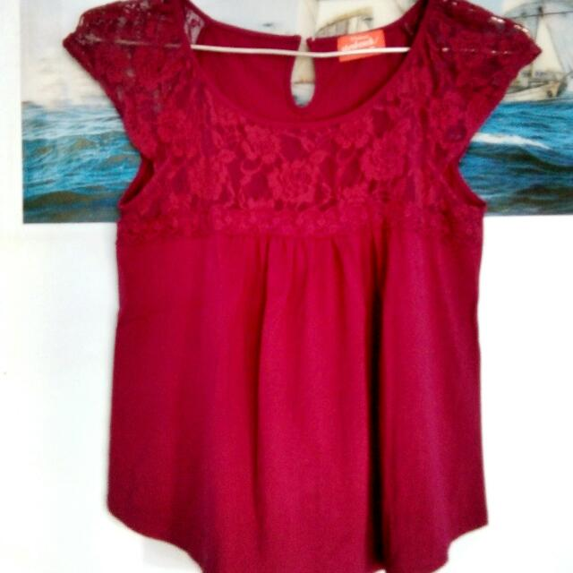 Maroon lace top (Herbench)