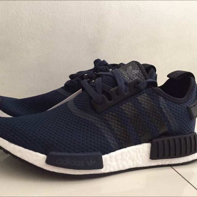Navy Blue And Black NMDs