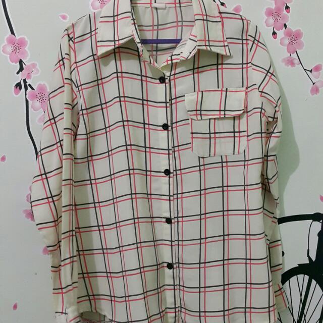 Preloved - Cream Square Shirt