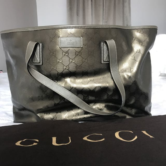 440a39a421b657 Preloved Authentic Gucci GG Imprime Tote Bag, Luxury, Bags & Wallets ...