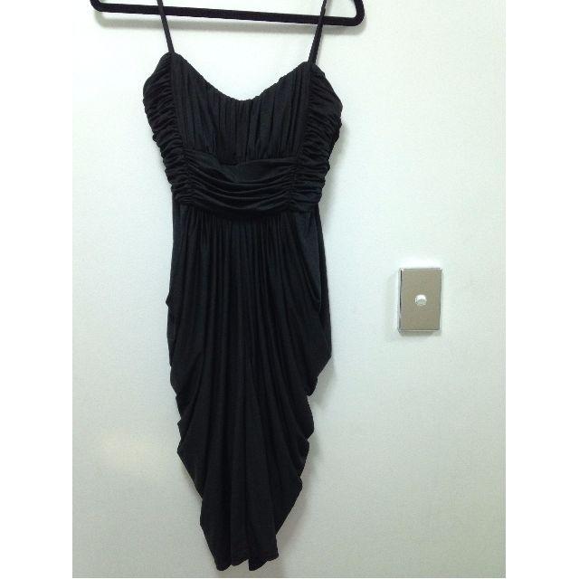 Ruched Black dress