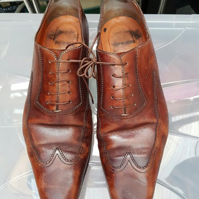 Santoni Genuine Leather Shoes