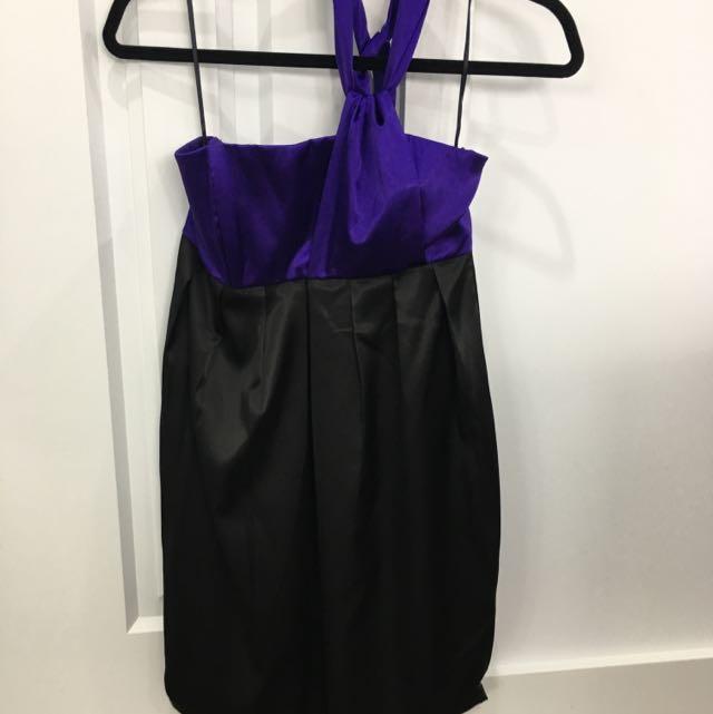 Satin Cocktail Dress Size 6