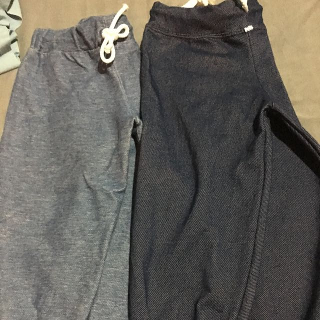 Soft Denim-like jogger Pants