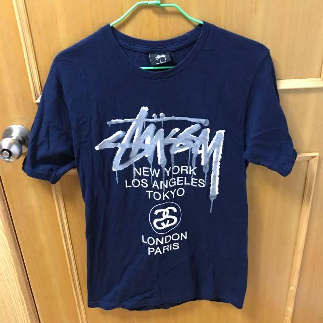 Stussy藍色T-shirt(可議價)