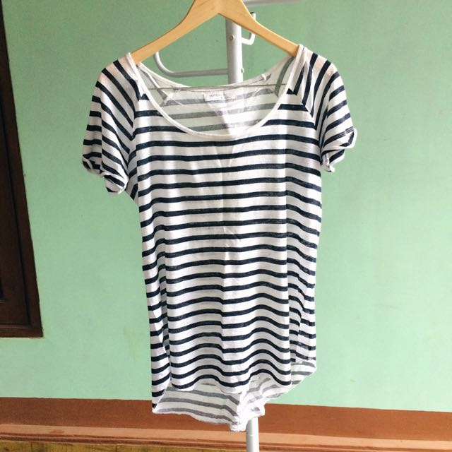 Suite Blanco Striped Navy Top