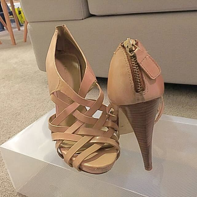 Sz7 Chinese Laundry Beige Heels