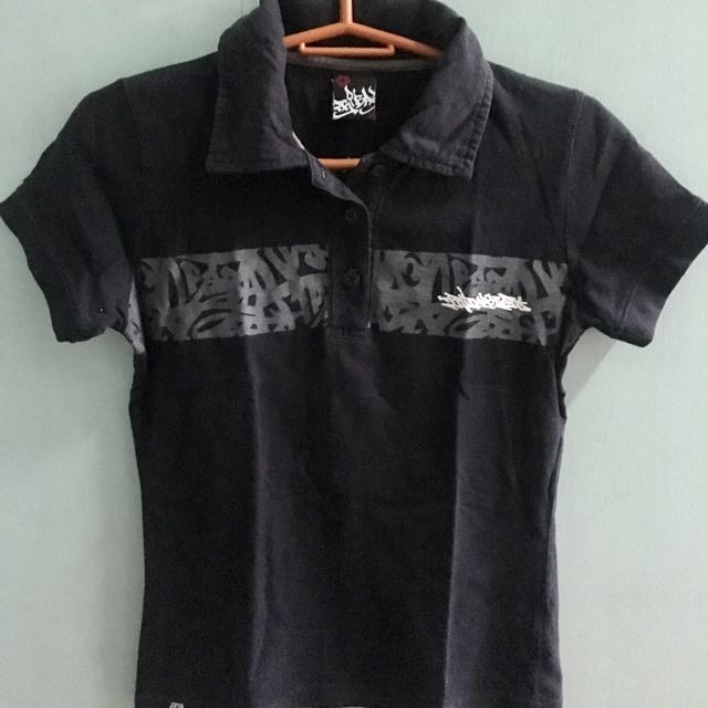 Tribal Black Polo Shirt