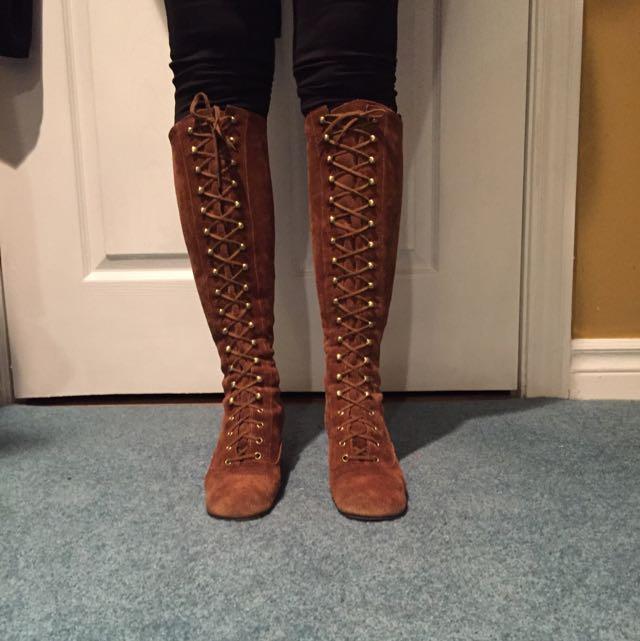 Vintage 100% Suade Boots