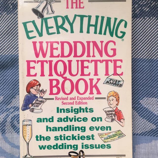 Wedding Etiquette Book