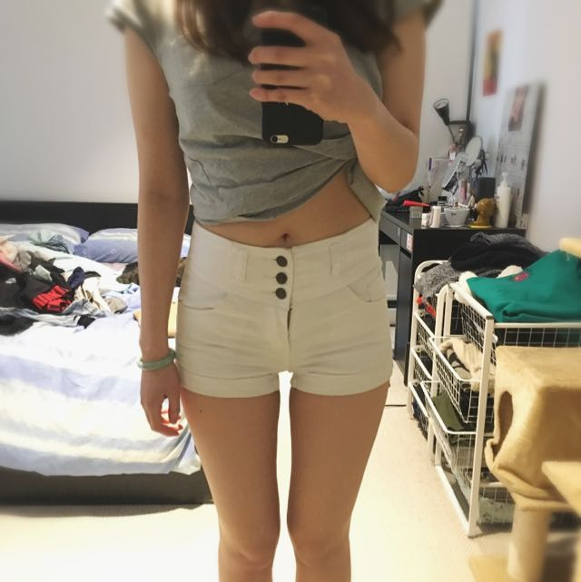 White Shorts From Supre