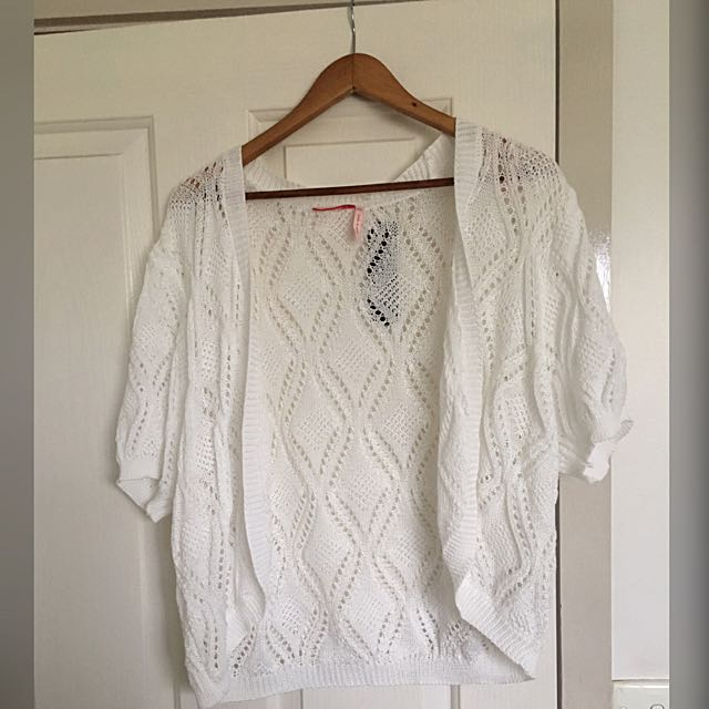 White Wool Little Cardigan