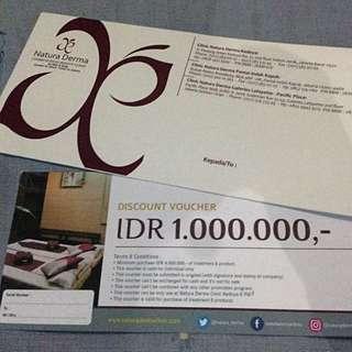 Natura Derma Discount Voucher 1.000.000 Rupiah