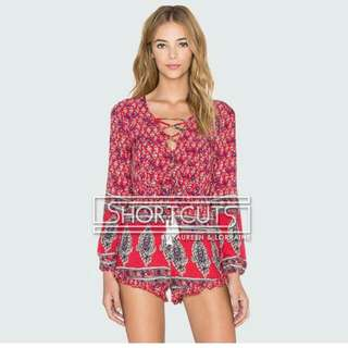 Red Gypsy Romper