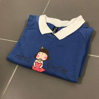 Miss Smile Blue Sweater