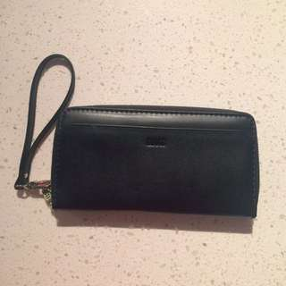 Genuine Leather Roots Wristlet