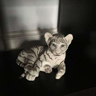 Large White Tiger Statue