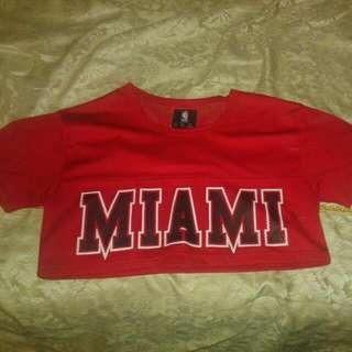 Miami Heat Crop Top Jersey Medium
