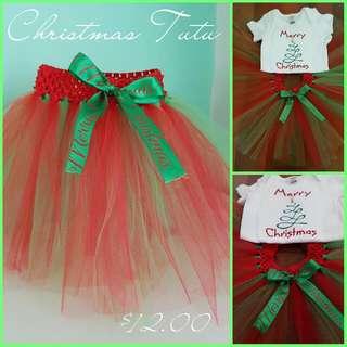 Gorgeous Christmas Tutu - Size 1
