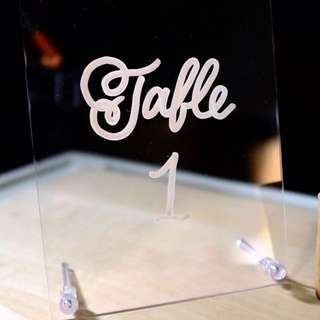 Wedding Table Number Sign