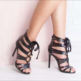 Simmi London Rope Lace Up Heels